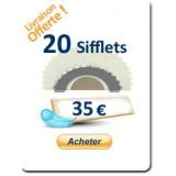 20 Sifflets Rossignol